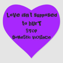 DOMESTIC VIOLENCE HEART STICKER