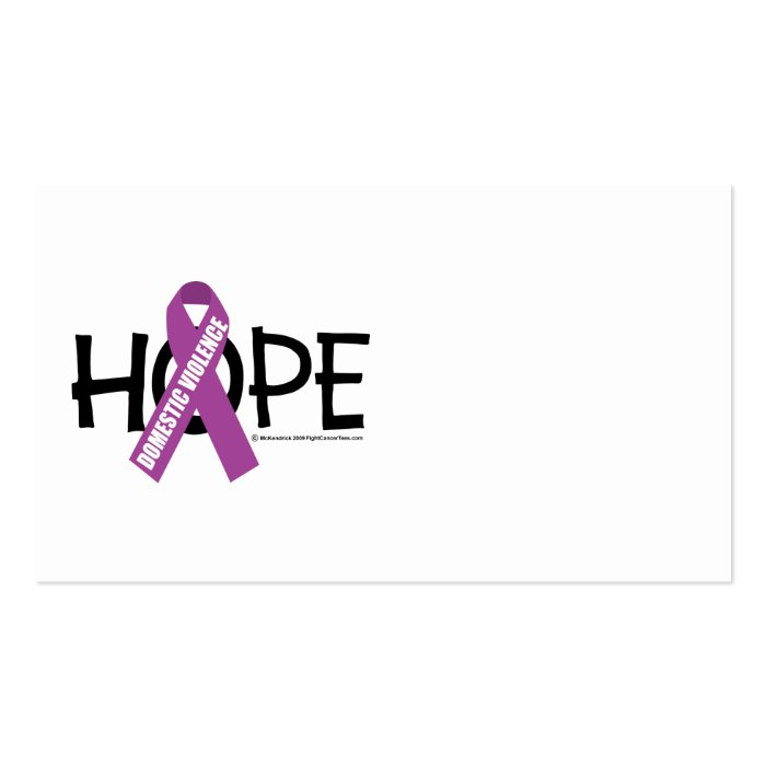 Domestic Violence Hope Business Card