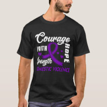 Domestic Violence  Hope Cure Purple Ribbon Gifts T-Shirt