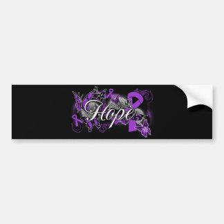 Domestic Violence Hope Garden Ribbon Car Bumper Sticker