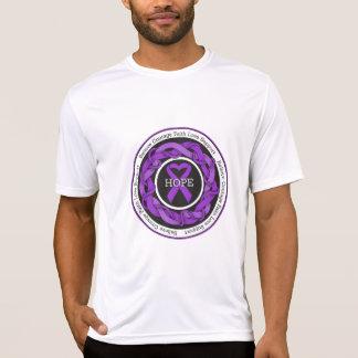 Domestic Violence Hope Intertwined Ribbon T-shirts