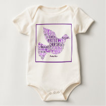 Domestic Violence Infant Sleeper Baby Bodysuit