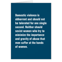 Domestic Violence Is Abhorrent And Should … Card