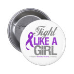 Domestic Violence Ribbon - Fight Like a Girl Pins