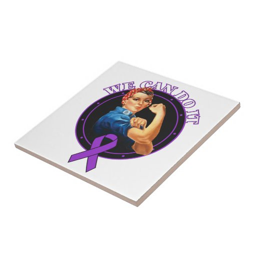 Domestic Violence - Rosie The Riveter - We Can Do Ceramic Tiles