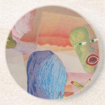 Domestic Violence Sandstone Coaster