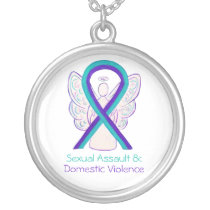 Domestic Violence & Sexual Assault Ribbon Necklace