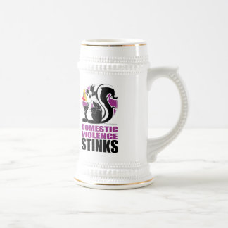 Domestic Violence Stinks Beer Stein
