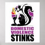 Domestic Violence Stinks Poster