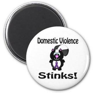 Domestic Violence Stinks Skunk Awareness Design Magnet