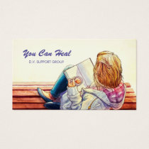 Domestic Violence Support Group Counselor Business Card