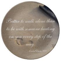 Domestic Violence Survivor Commemorative Collector Dinner Plate