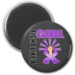 Domestic Violence Victory Fight Like A Girl Refrigerator Magnets