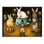 Domesticación de los conejitos gigantes tarjetas postales