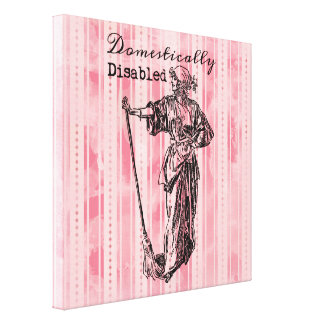 Domestically Disabled Stretched Canvas Print