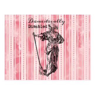 Domestically Disabled Postcard