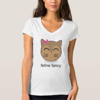 domesticat - camiseta de lujo felina (perlas) polera