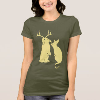 Domesticated Funny Rabbits Womens T-shirt