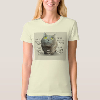 Domesticated Pet Photo Template T-Shirt