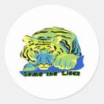Domestique el Tiger2 Etiquetas Redondas