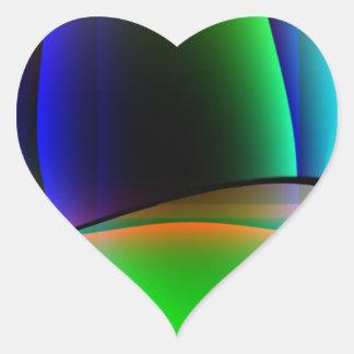 Domicilio extranjero pegatina en forma de corazón