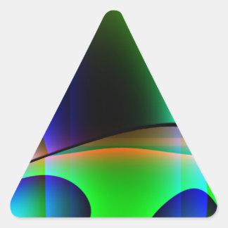 Domicilio extranjero pegatina triangular