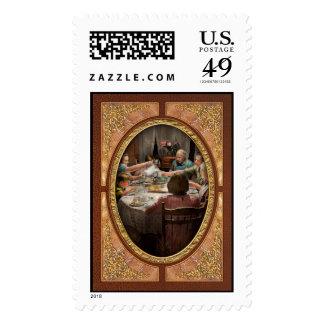 Domicilio familiar para los días de fiesta 1942 sellos