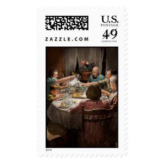 Domicilio familiar para los días de fiesta 1942 sello