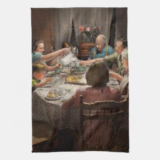 Domicilio familiar para los días de fiesta 1942 toallas de cocina