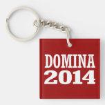 DOMINA 2014 Double-Sided SQUARE ACRYLIC KEYCHAIN