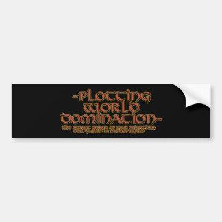 Dominación Bumperstickers del mundo del trazado Pegatina De Parachoque