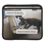 Dominación del mundo del gato funda para iPads