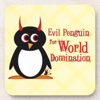 Dominación malvada del mundo de Penguin™ Posavasos