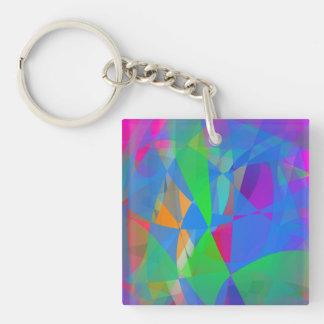 Dominant Blue Single-Sided Square Acrylic Keychain