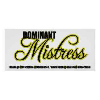Dominant Mistress with BDSM Acronym Poster