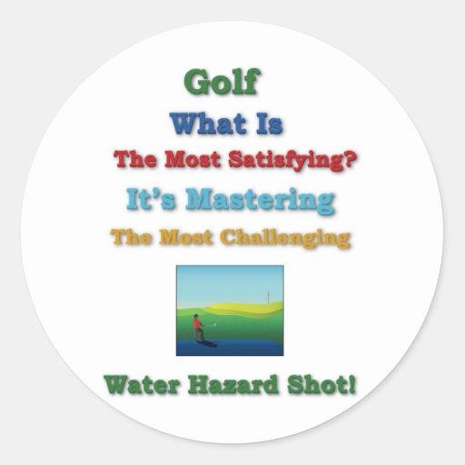 dominar peligro del agua del golf etiquetas