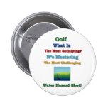 dominar peligro del agua del golf pins