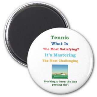 dominar tenis satisfactorio imán de frigorifico