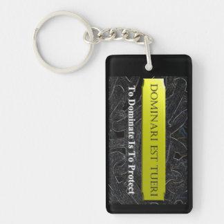 dominate Single-Sided rectangular acrylic keychain