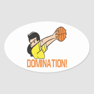 Domination Oval Sticker