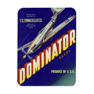 Dominator Aircraft Produce Label Magnet