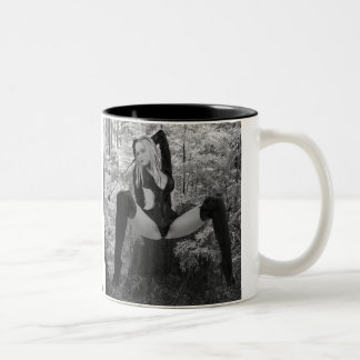 Dominatrix in the Woods with a Riding Crop Mugs