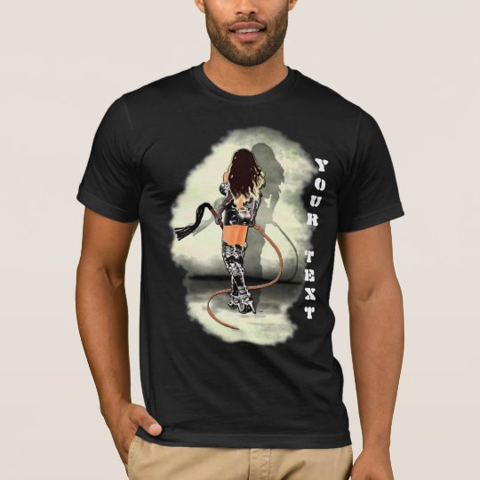 Dominatrix with Whips(White) Front Printing T-Shirt