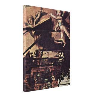 Domingo Beccafumi - ángeles y arquitectura Lienzo Envuelto Para Galerias