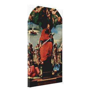 Domingo di Pace Beccafumi - Altarpiece StPaul Impresiones En Lona