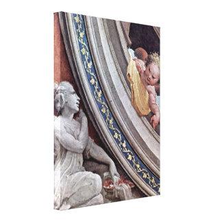 Domingo di Pace Beccafumi - detalle de Justitia Impresiones En Lienzo Estiradas
