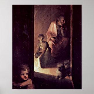Domingo di Pace Beccafumi - detalle del nacimiento Posters