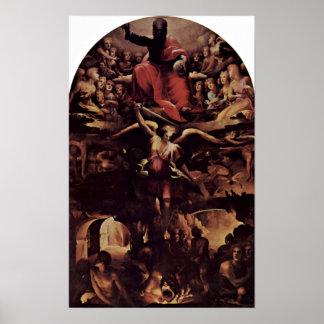 Domingo di Pace Beccafumi - infierno Posters