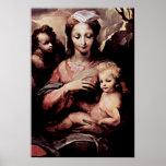 Domingo di Pace Beccafumi - Madonna Poster