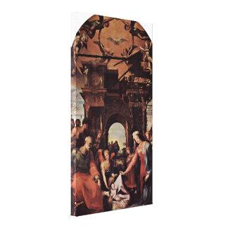 Domingo di Pace Beccafumi - nacimiento de Cristo Impresiones En Lona